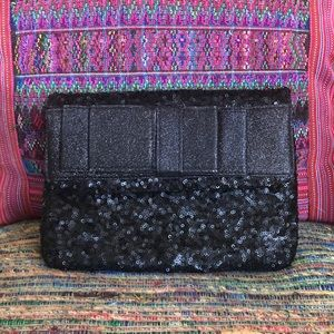 Sweet Sophisticated Black Sequined clutch